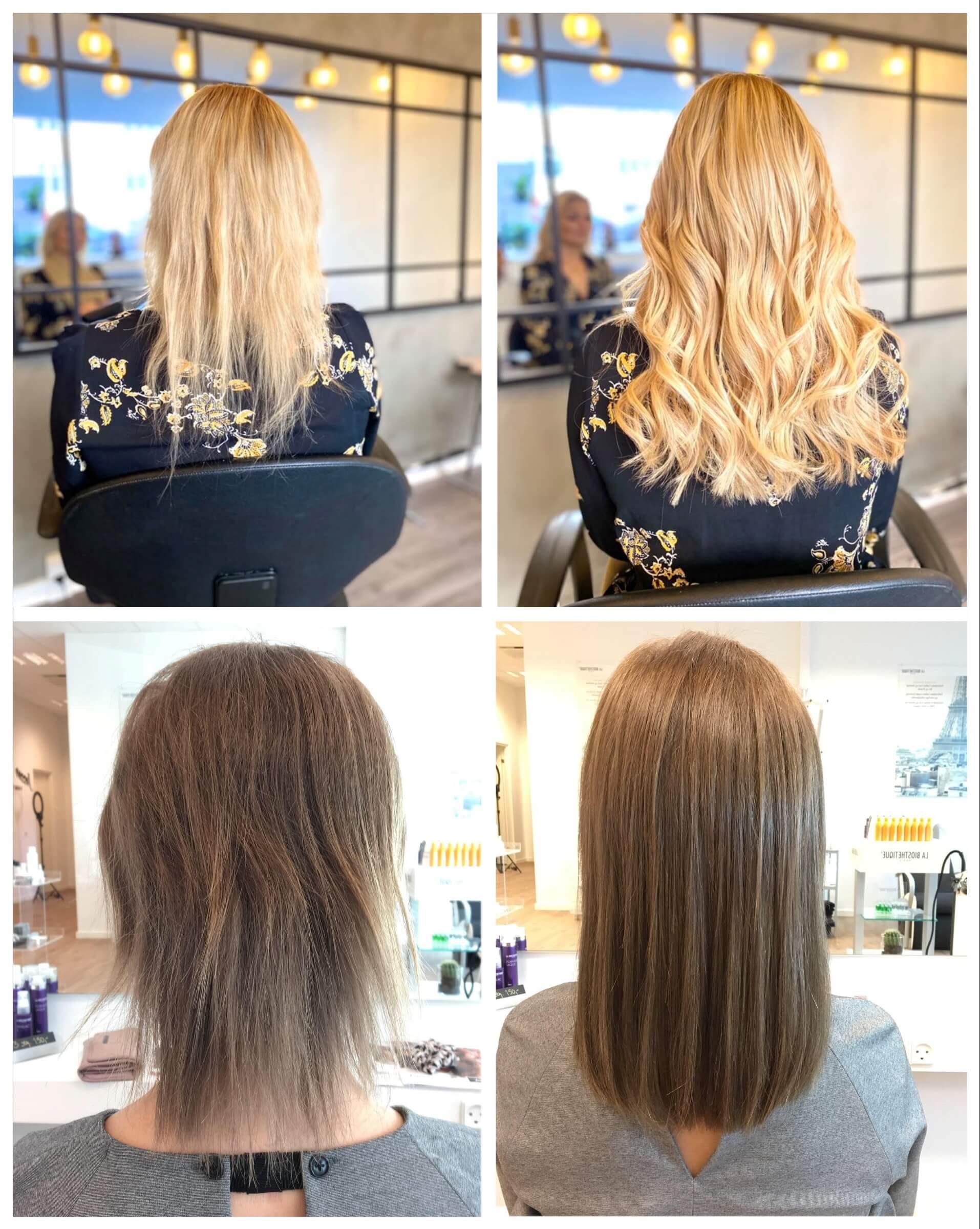 etager i langt hår